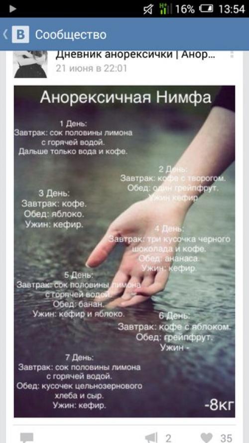 Диете Анорексичных Нимф.