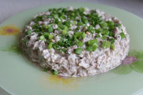 Салаты на дюкане. Рыбный салат по дюкану.