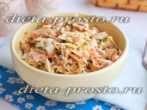 Салат С семгой По Дюкану. Салат с семгой и имбирным соусом (диета Дюкана)