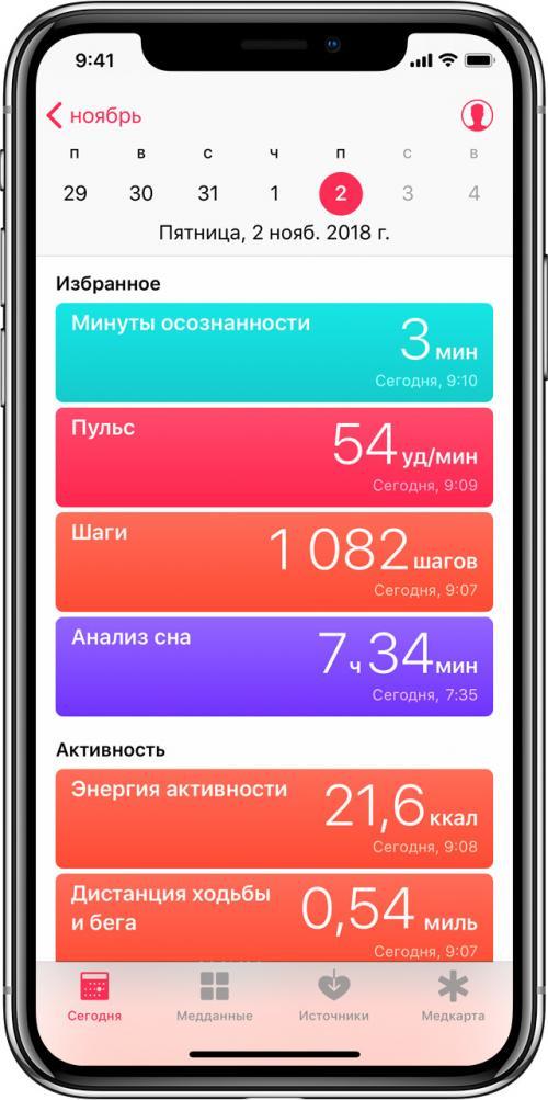 Приложение для здорового образа жизни iPhone. Использование программы «Здоровье» наiPhone или iPodtouch
