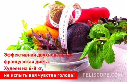 Двухнедельные диеты для похудения. Эффективная двухнедельная французская диета. Худеем на 6-8 кг, не испытывая чувства голода!
