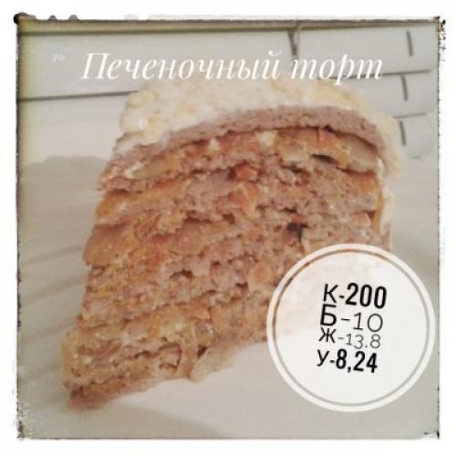 Печеночный торт с крахмалом. Печеночный торт. (Куриная печень, кукурузный крахмал)