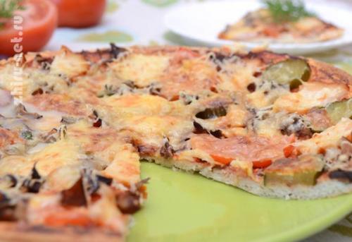 Пицца по-Дюкану без отрубей. Пицца по Дюкану. Просто вкусная пицца