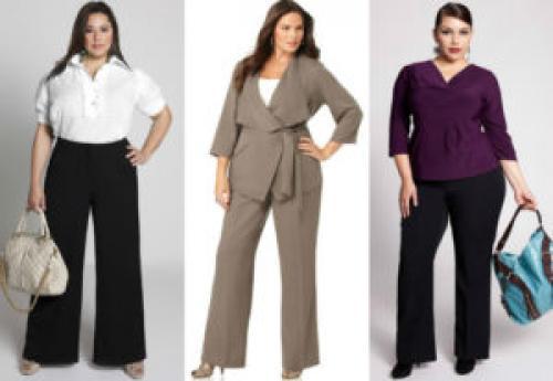 Модели женских брюк для полных. Фасоны брюк для полных женщин фото