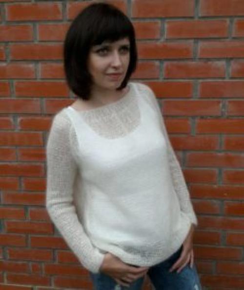 Свитер из толстой пряжи спицами схема женский. Схемы вязания женских свитеров спицами