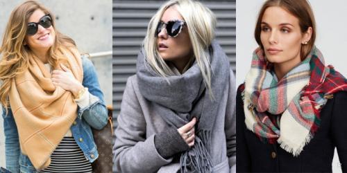 Пальто с шарфом, как носить женщинам. Способы ношения шарфа поверх пальто