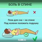Правильная поза сна!