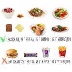 1200 калорий могут выглядеть совсем по-разному.