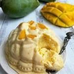 Творожно - манговый десерт.