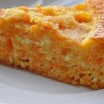 Творожная запеканка с морковью (100 гр - 88 ккал).