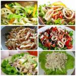 Белковый микс: 6 вкусных и питательных идей для салата с кальмаром.