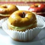 Запеченные яблоки с творожно - ванильным кремом.