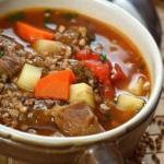Вкусный гречневый суп с говядиной невероятно.