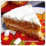 Тортик моркошка с лимонным кремом чередование.