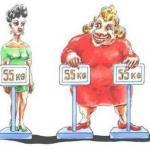 Идеальный вес и большая фигура.