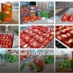 Вяленые помидоры с базиликом.