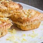 Творожные кексы с лимонной цедрой.